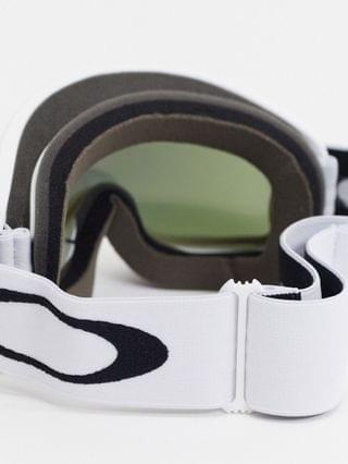 Oakley Frame 2.0 pro XL goggles in white with purple/green lens