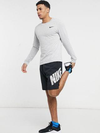 MEN Nike Training graphic long sleeve top in white