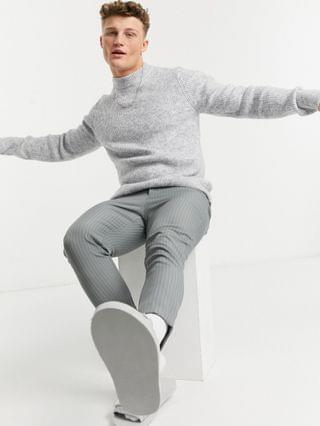 Topman soft-touch turtleneck sweater in gray