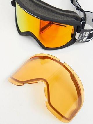 Oakley Frame 2.0 pro XL goggles in black with orange/yellow lens