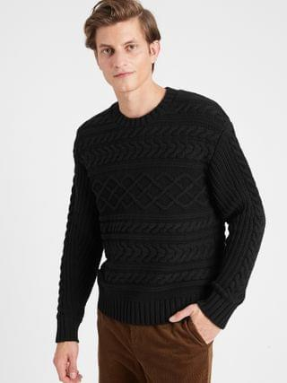 MEN Chunky Cable-Knit Sweater