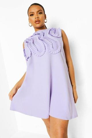 WOMEN Plus Occasion Ruffle Shift Dress