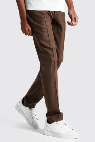 MEN Tall Tapered Check Cropped Smart Trouser