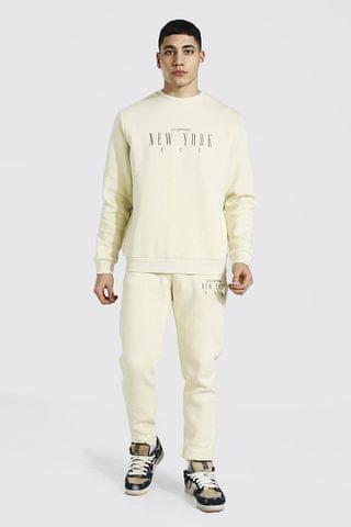 MEN New York Embroidered Sweater Tracksuit