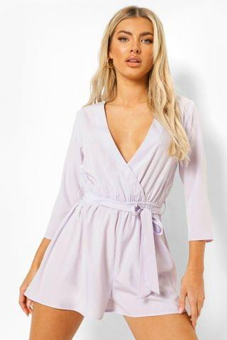 WOMEN Wrap Front Belted Playsuit