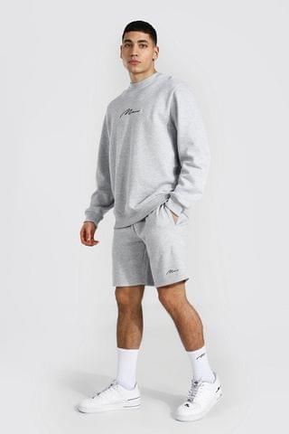 MEN Signature Sweater Short Tracksuit