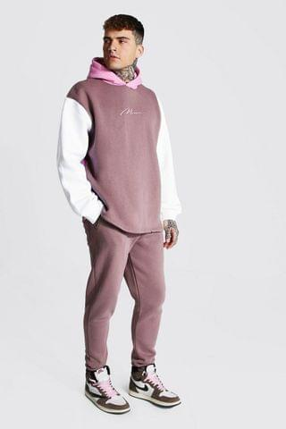 MEN Oversize Man Signature Colour Block Tracksuit