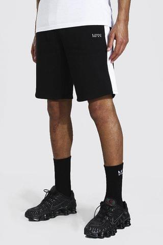 MEN Tall Man Mid Length Side Panel Jersey Short