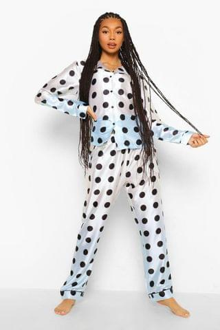 WOMEN Ombre Polka Dot Satin PJ Trouser Set