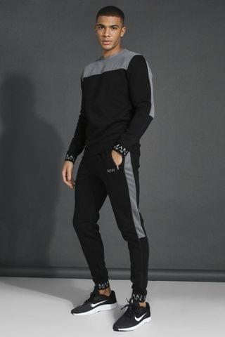 MEN Active Tech Panel Sweatshirt Tracksuit
