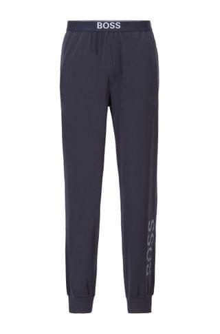 MEN Pajama pants in stretch cotton with vertical logo