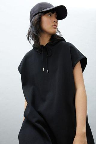 WOMEN Hooded Sweatshirt Dress