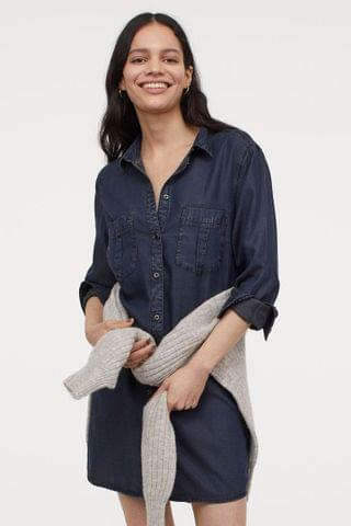 WOMEN Lyocell Shirt Dress