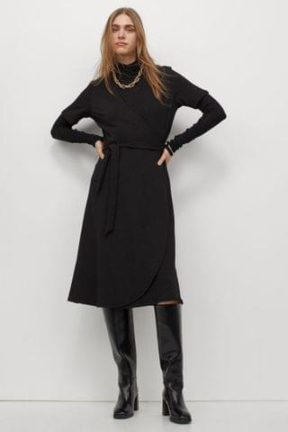 WOMEN Jersey Wrap Dress