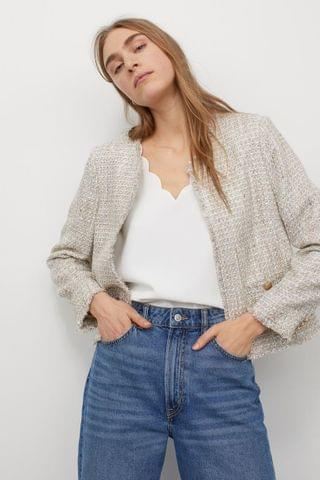 WOMEN Scallop-edged Top