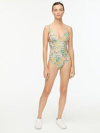 WOMEN Plunge V-neck one-piece in Liberty Mini Floral Walk