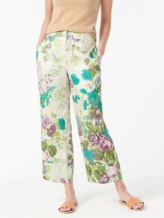 WOMEN Pull-on crop pant in Ratti leafy floral