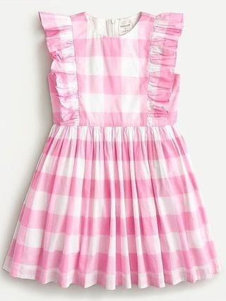 KIDS Girls' ruffle-trim party dress in oversized gingham