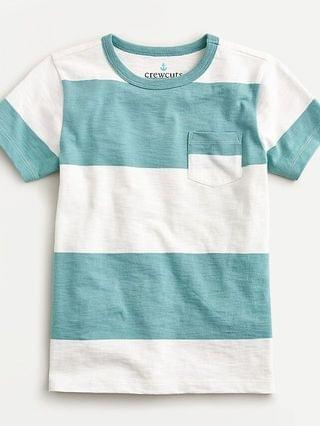 KIDS Kids' rugby-stripe pocket T-shirt