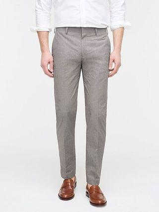 MEN Ludlow Slim-fit suit pant in Japanese windowpane cotton