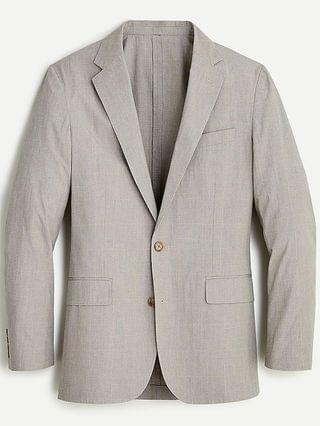 MEN Ludlow Slim-fit suit jacket in Japanese windowpane cotton