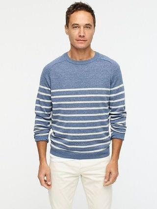 MEN Plaited linen-cotton sweater in stripe