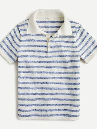 KIDS Kids' short-sleeve sweater polo in stripe