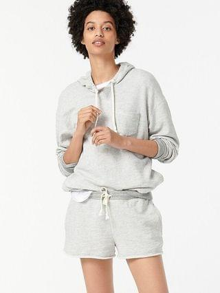 WOMEN Vintage cotton terry two-tone relaxed hoodie