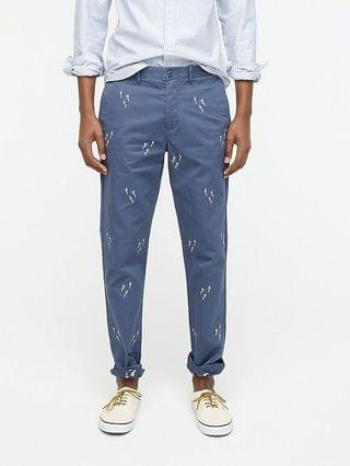 MEN 770 Straight-fit Broken-in chino pant in embroidered divers