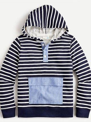 KIDS Boys' french terry hoodie in stripe