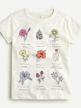 KIDS Girls' state flower T-shirt