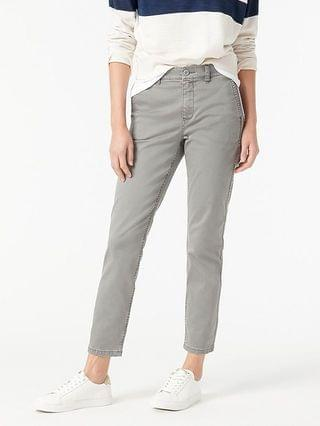 WOMEN Vintage straight pant in garment-dyed stretch chino