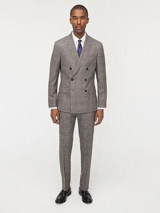 MEN Ludlow Slim-fit suit jacket in Italian wool-silk-linen