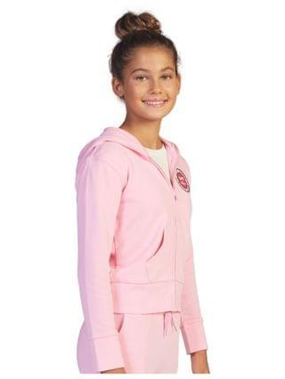 KIDS Little Girls Barbie Let Me in Zip Fleece Sweater