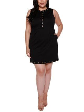 WOMEN Black Label Plus Size Embellished Sleeveless Fitted Dress