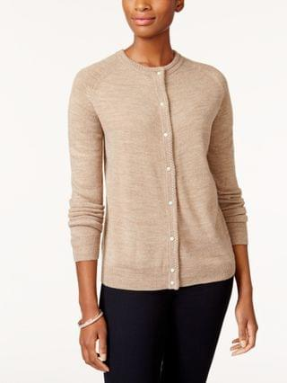 WOMEN Petite Imitation Pearl-Button Cardigan Created for Macy's