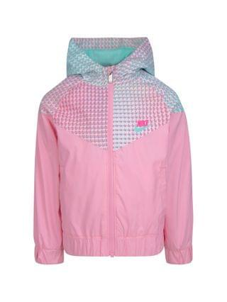 KIDS Little Girls All Over Print Block Windrunner Jacket