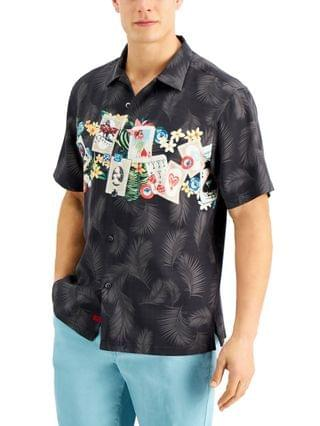 MEN Silk Graphic Shirt