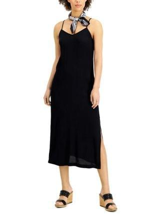 WOMEN Petite Side-Slit Slip Dress Created for Macy's