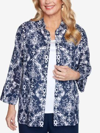 WOMEN Petite Anchor's Away Medallion-Print Two For One
