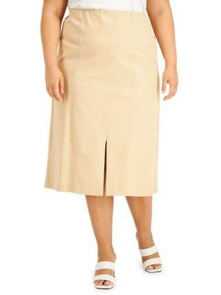WOMEN Plus Size Front-Seamed Skirt Created for Macy's