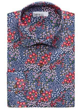 MEN Slim-Fit Performance Stretch Floral-Print Dress Shirt Created for Macy's