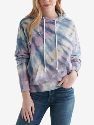 WOMEN Tie-Dyed Cotton Hoodie