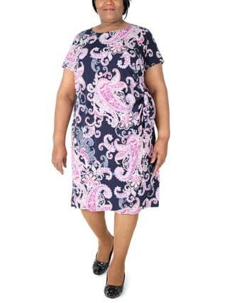 WOMEN Plus Size Printed Sheath Dress