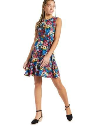 WOMEN Floral-Printed Sleeveless Knit Dress Created for Macy's