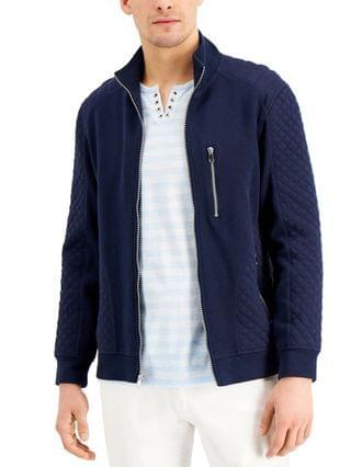 MEN INC Men's Quilted Rib Knit Jacket Created for Macy's