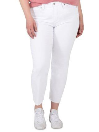 WOMEN Trendy Plus Size Most Wanted Mid-Rise Straight Crop Jeans