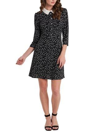 WOMEN Prim Ditsy-Print Collared Dress Created for Macy's