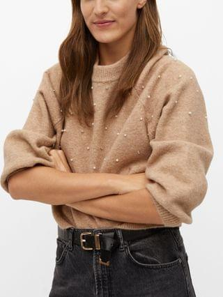 WOMEN Pearls Knitted Sweater