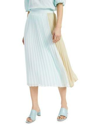 WOMEN Colorblocked Pleated Skirt Created for Macy's